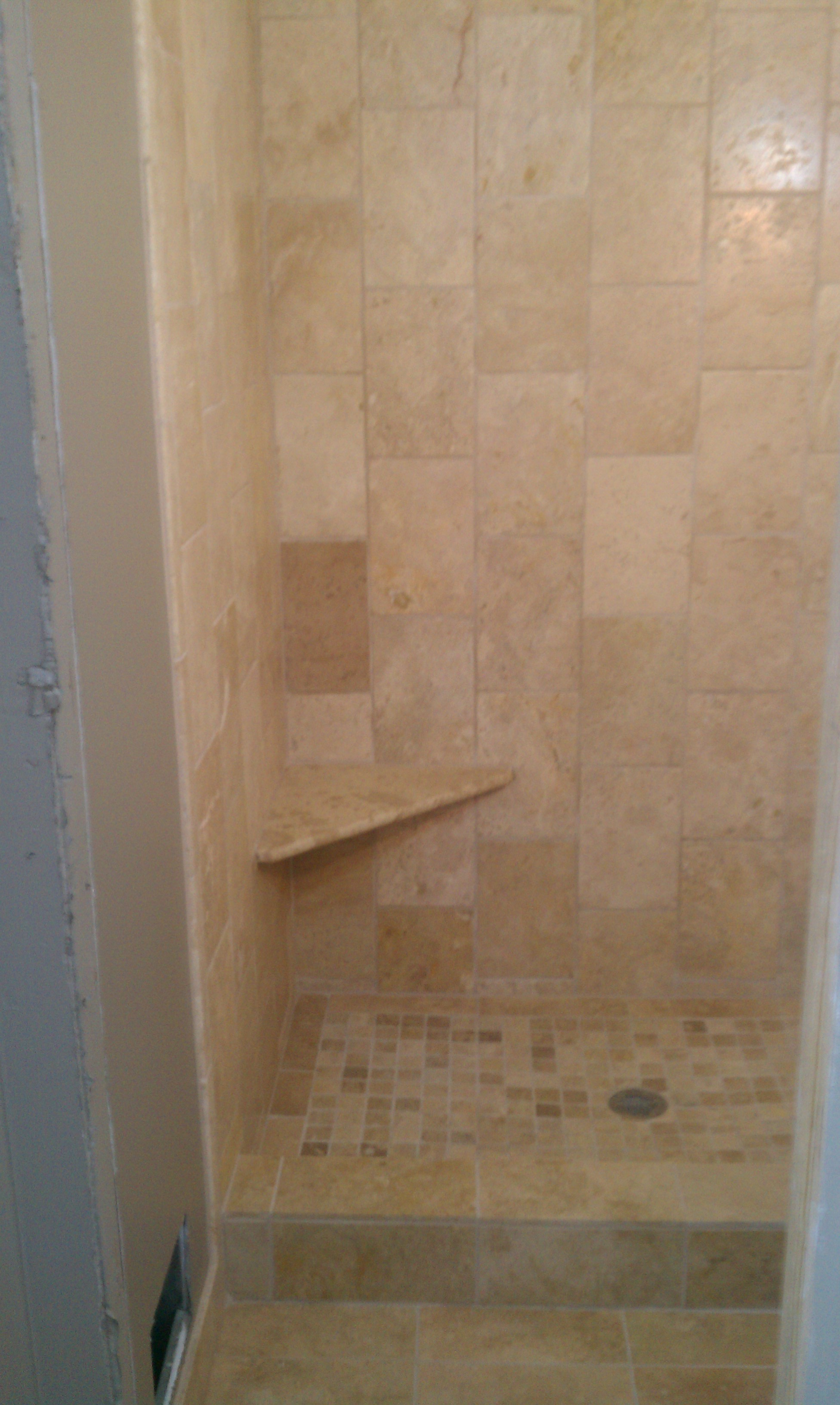 Shower with Tile Surround | EJK Custom Remodeling