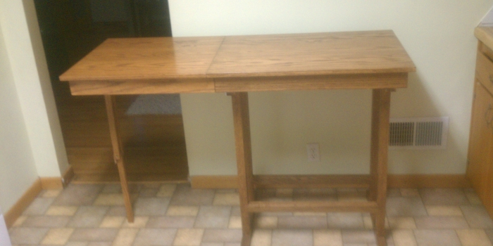 Pantry Table with Extension