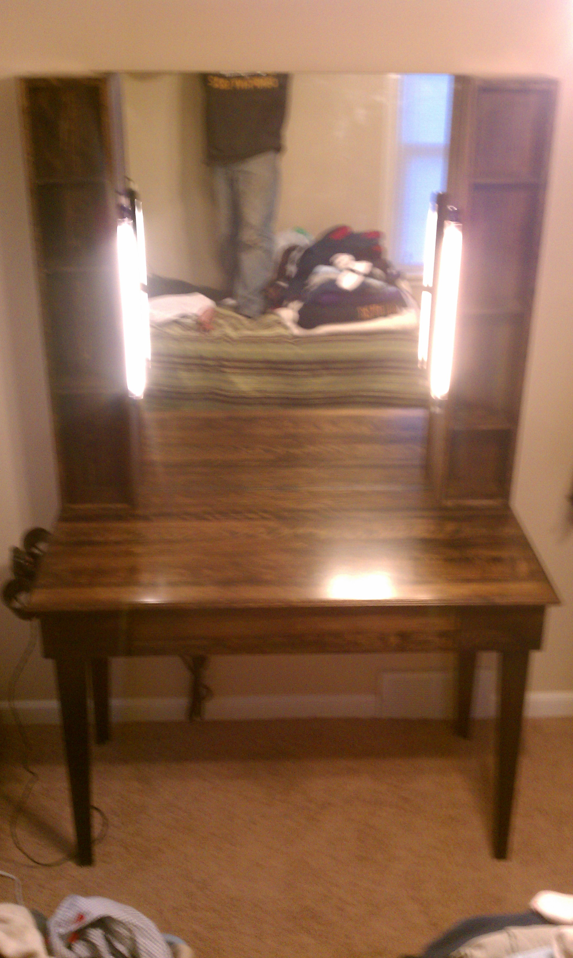 Custom Made Makeup Vanity Ejk Custom Remodeling